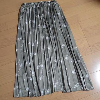 ZARA - 大人気色! 花柄プリーツスカート ロングスカート