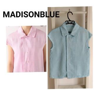 MADISONBLUE - MADISONBLUE CAP SLEEVEブラウス ブルー