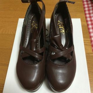 ユメテンボウ(夢展望)の夢展望 フリル厚底靴♪(ローファー/革靴)