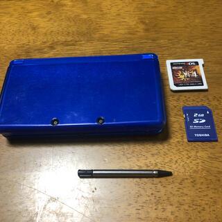 ニンテンドー3DS - Nintendo 3ds ブルー SDカード2GB タッチペン モンハン4