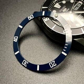 セイコー(SEIKO)のSEIKO セラミック ベゼル SNZF SNZF17 カスタム ダークブルー(腕時計(アナログ))