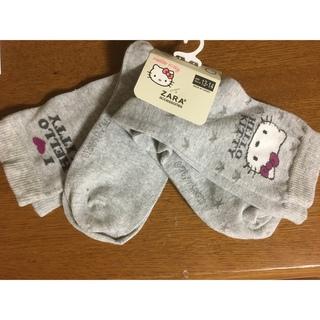 ザラ(ZARA)の新品✿ザラZARA✿靴下✿2足✿大人キティ(ソックス)
