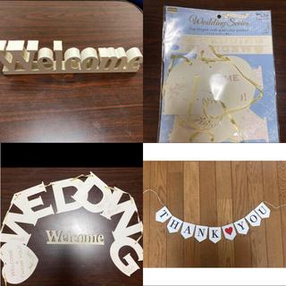 wedding  ガーランド welcome 置物(ガーランド)