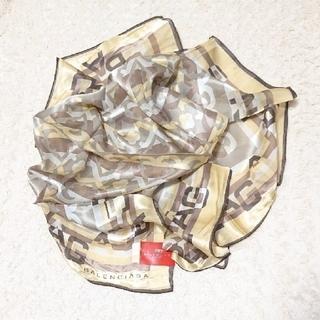 バレンシアガ(Balenciaga)の売約済《未使用》シルク100% BALENCIAGA スカーフ 2枚(バンダナ/スカーフ)