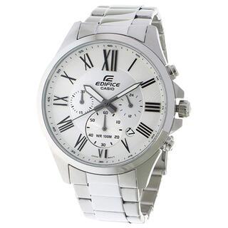 CASIO - 最安値!CASIO エディフィス クオーツ メンズ 腕時計 ホワイト