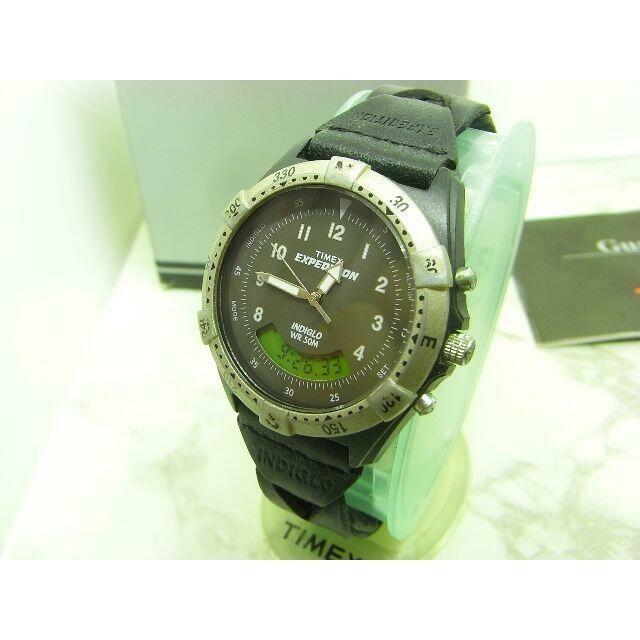 TIMEX(タイメックス)のヴィンテージ タイメック TIMEX EXPEDITION ブラック&シルバー メンズの時計(腕時計(アナログ))の商品写真