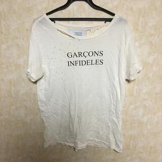 Saint Laurent - GARCONS INFIDELES ダメージ加工Tシャツ