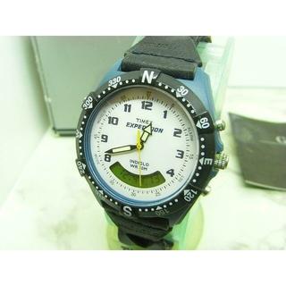 タイメックス(TIMEX)のヴィンテージ タイメック TIMEX EXPEDITION ブルー&ブラック(腕時計(アナログ))