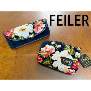 FEILER - 【新品・未使用】フェイラー メガネケース 小物入れ 化粧ポーチ