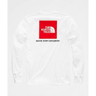 ザノースフェイス(THE NORTH FACE)のSALE【新品】ノースフェイス ボックスTシャツ ロンT RED BOX(Tシャツ/カットソー(七分/長袖))