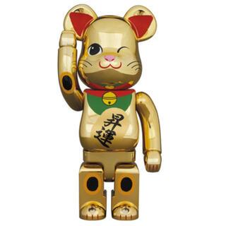 メディコムトイ(MEDICOM TOY)のBE@RBRICK 招き猫 金メッキ 昇運 弐 400%(フィギュア)