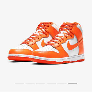 NIKE DUNK HI RETRO Orange Blaze 26.5cm
