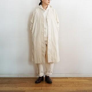 MUJI (無印良品) - 【新品】 無印良品 コットンカポックコート/生成/XS~S
