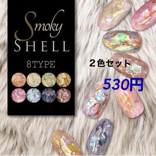 スモーキーシェル 2色セット(ネイル用品)