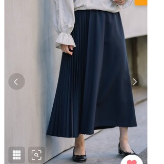 DEUXIEME CLASSE - Munich ポリエステルツイルプリーツロングスカート 定価18,700
