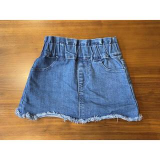 プティマイン(petit main)のpetitmain プティマイン デニムスカート ミニスカート(スカート)