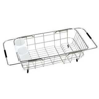 パール金属 食器 水切り かご シンク スライド式 ステンレス シンプル・ウェア