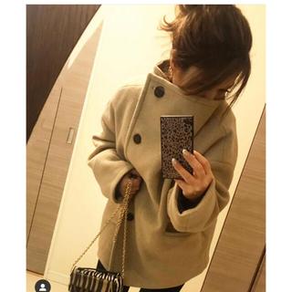 マウジー(moussy)のmoussy big collar wool short coat(ピーコート)