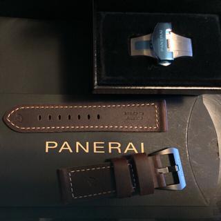 PANERAI - パネライ 純正ストラップ カーフ Vintage ダークブラウン 未使用