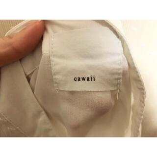 カワイイ(cawaii)のcawaii ブラウス アシンメトリー(ホワイト)(シャツ/ブラウス(長袖/七分))