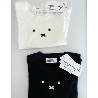 しまむら - しまむら ミッフィー ベビー 半袖 Tシャツ 100 白 黒