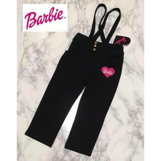 バービー(Barbie)の即購入OK!新品タグ付★Barbie キッズ サロペット 黒 95cm(パンツ/スパッツ)
