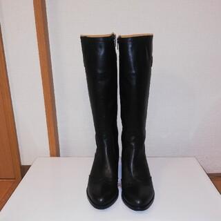 サヴァサヴァ(cavacava)のロングブーツ 黒革 23.5cm(ブーツ)