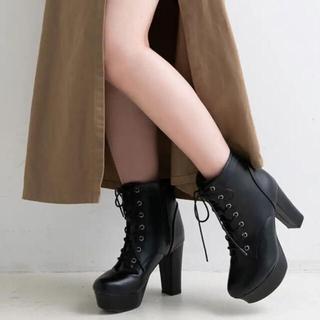 ユメテンボウ(夢展望)の夢展望 ショートブーツ ブラック23.5cm【お値下げ可能】(ブーツ)