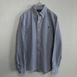 GYMPHLEX - 美品 GYMPHLEX ジムフレックス ストライプ ボタンダウンシャツ