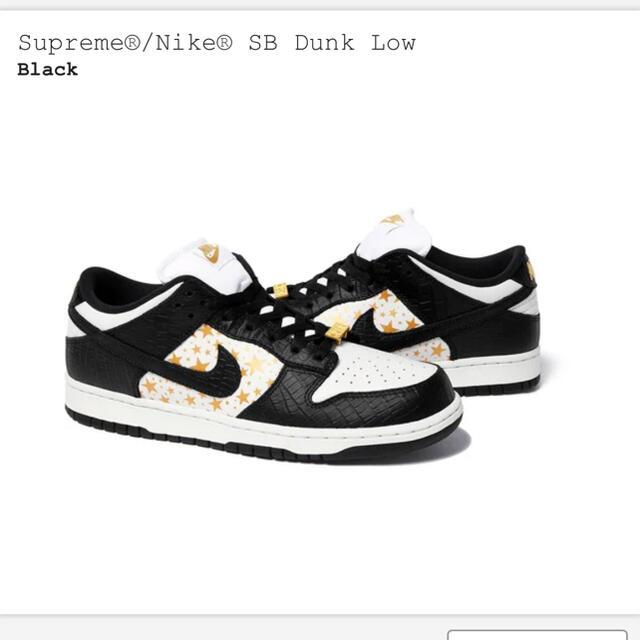 Supreme(シュプリーム)の込 28 Supreme Nike  SB Dunk Low  black メンズの靴/シューズ(スニーカー)の商品写真