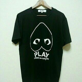 送料無料コムデギャルソンTシャツplayTシャツ男女兼用Black  L サイズ