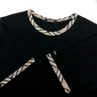 BURBERRY BLACK LABEL - ●大人気作●デザインTシャツ●バーバリーブラックレーベル●