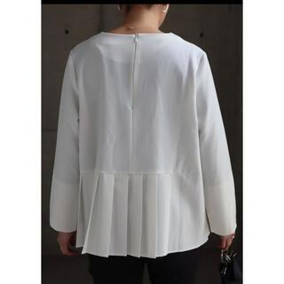 DEUXIEME CLASSE - 【新品・完売】eLLa  accordion blouse ホワイト
