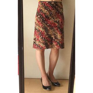 モルガン(MORGAN)のモルガン 幾何学模様 スカート M(ひざ丈スカート)