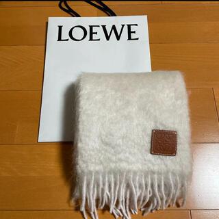 LOEWE - ロエベ LOEWE  マフラー モヘア ホワイト