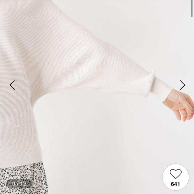 INDEX(インデックス)のバックリボン ニット 春ニット レディースのトップス(ニット/セーター)の商品写真