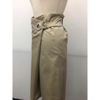 スコットクラブ(SCOT CLUB)のSCOT CLUB ベージュ 巻きスカート 新品未使用タグ付き(ひざ丈スカート)