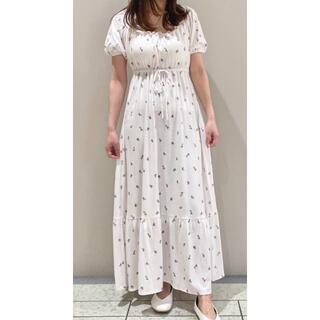 gelato pique - ジェラートピケ リトルローズロングドレス ワンピース ピンク ドレス