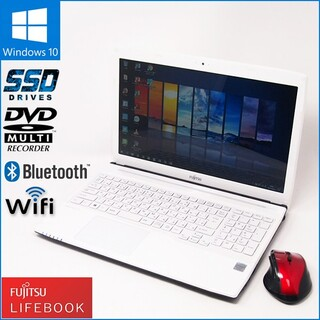 富士通 - 数量限定無線マウスセット Windows10搭載 ノートPC 富士通 AH42T