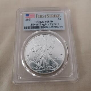 2021 アメリカ 銀貨 シルバーイーグル MS70