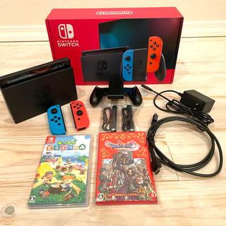 Nintendo Switch - 美品 ソフト2本セット(ドラクエ・あつ森)ニンテンドースイッチ本体