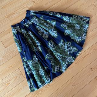 イエナ(IENA)のフラワージャガードボリュームスカート 38(ロングスカート)