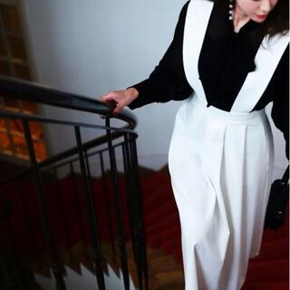Drawer - akiki サスペンダータックスカート ホワイト