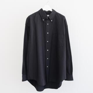 COMOLI - グラフペーパー オックスフォード L/S B.D. ボックスシャツ 黒2