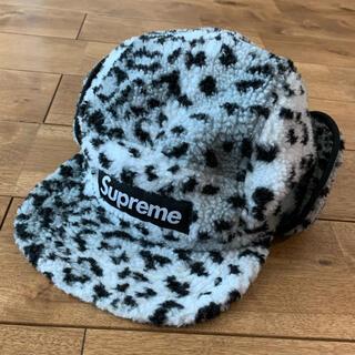Supreme - supreme leopard polar fleece earflap cap