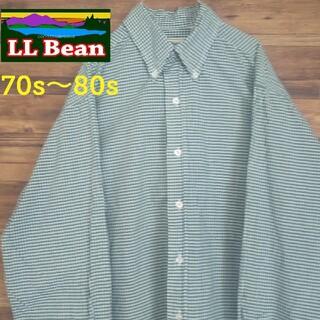 L.L.Bean - エルエルビーン 70s~80s ギンガムチェックシャツ BDシャツ
