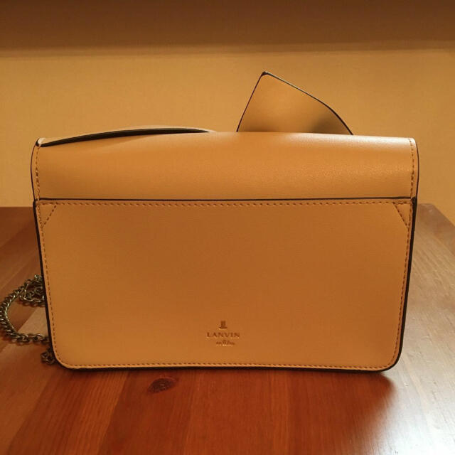 LANVIN en Bleu(ランバンオンブルー)の美品 ランバンオンブルー ショルダー チェーン 卒業式 入学式 レディースのバッグ(ショルダーバッグ)の商品写真