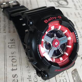 ベビージー(Baby-G)のBABY-G  ブラック×レッド(腕時計)