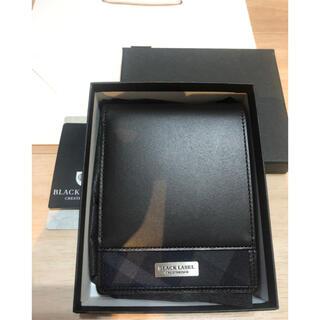 ブラックレーベルクレストブリッジ(BLACK LABEL CRESTBRIDGE)の新品 ブラックレーベルクレストブリッジ 二つ折り レザー財布☆(折り財布)