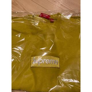 Supreme - 18AW supreme box logo crewneck mustard